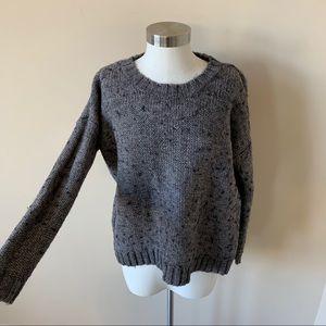 Madewell crew neck soft stitch sweater gray 6721